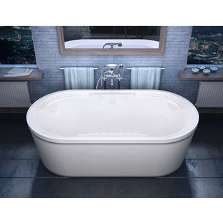 Atlantis Whirlpools Royale 34 x 67 Oval Freestanding Air Jetted Bathtub in White