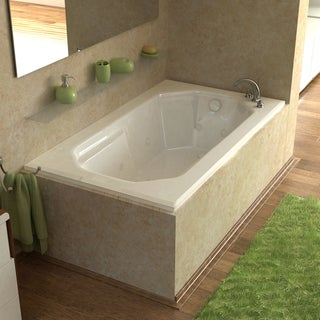 Atlantis Whirlpools Mirage 36 x 60 Rectangular Air & Whirlpool Jetted Bathtub in White