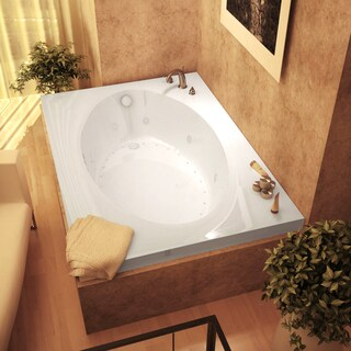 Atlantis Whirlpools Vogue 42 x 60 Rectangular Air & Whirlpool Jetted Bathtub in White