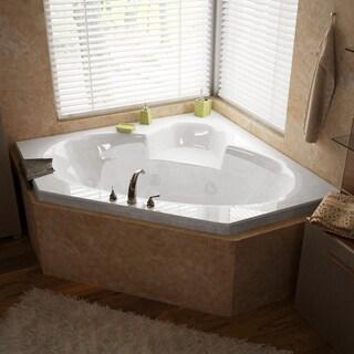 Atlantis Whirlpools Sublime 60 x 60 Corner Air & Whirlpool Jetted Bathtub in White