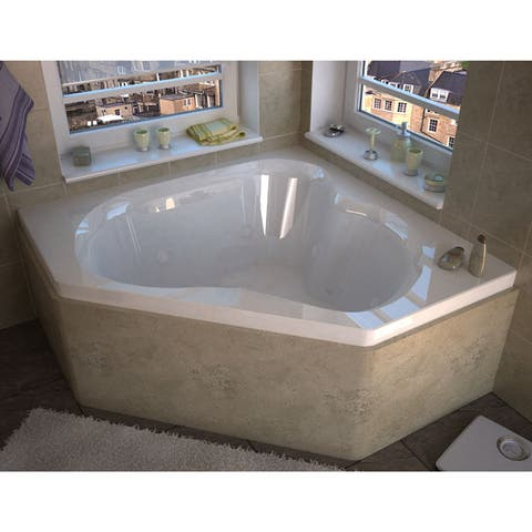 Atlantis Whirlpools Cascade 60 x 60 Corner Air & Whirlpool Jetted Bathtub in White - 60x60