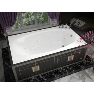Atlantis Whirlpools Polaris 42 x 72 Rectangular Air & Whirlpool Jetted Bathtub in White