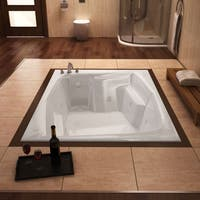 Atlantis Whirlpools Caresse 54 x 72 Rectangular Air & Whirlpool Jetted Bathtub in White