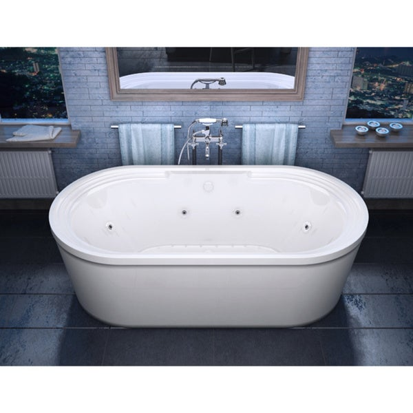 Atlantis Whirlpools Royale 34 X 67 Oval Freestanding Air