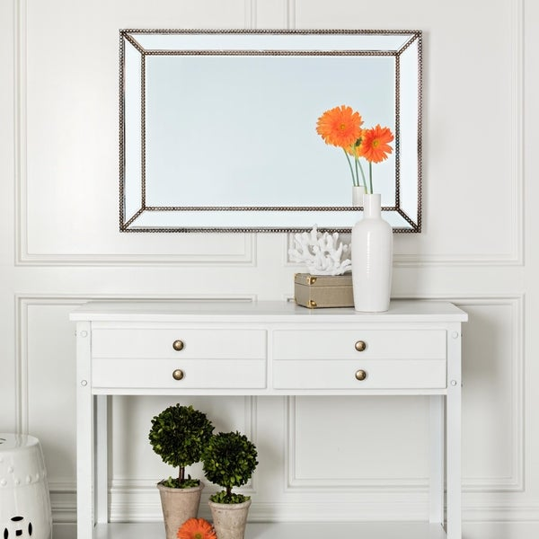 Cosmo Rustic Rectangular Wall Mirror - Bronze By Abbyson. Opens flyout.