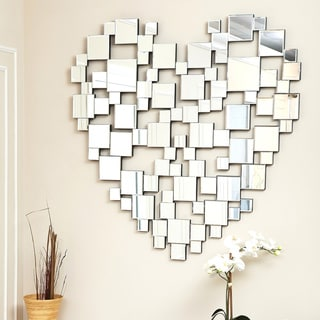 Abbyson Heart-shaped Wall Mirror