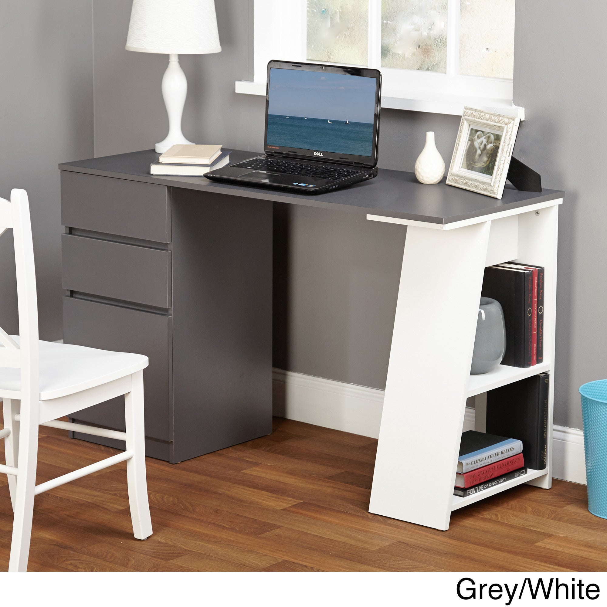 grey home office small simple living como modern writing desk grey home office furniture find great deals shopping at