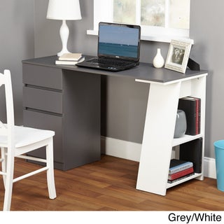Como Writing Desk (Option: Grey/White)
