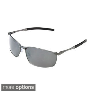Hot Optix Men's Metal Frame Wrap Sunglasses
