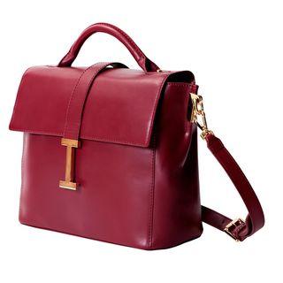 Isaac Mizrahi 'Liz' Removable Tech-compartment Genuine Leather Satchel Handbag