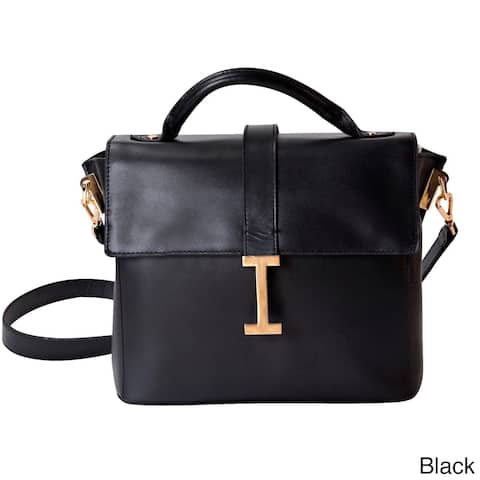 Isaac Mizrahi 'Liz' Removable Tech-compartment Genuine Leather Satchel Handbag