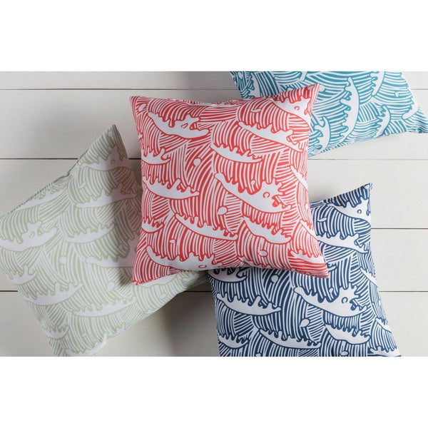Tidal Wave Indoor/Outdoor Safe Decorative Throw Pillow