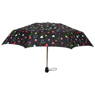 Leighton 'Francesca' Heart Print Compact Umbrella