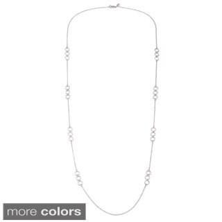 La Preciosa Sterling Silver Circles Link Necklace