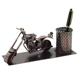 Three Star Motorcycle Desk Pen Holder