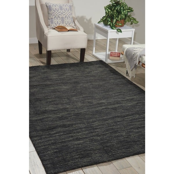 Waverly Grand Suite Charcoal Area Rug by Nourison - 8' x 10'6