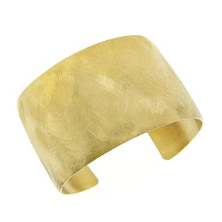 Gold Ion-plated Stainless Steel Satin Finish Cuff Bracelet