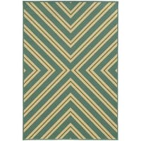 StyleHaven Indoor/ Outdoor Geometric Rug (6'7 x 9'6) - 6'7 x 9'6