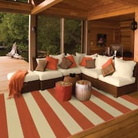 Havenside Home Madisonville Indoor/ Outdoor Stripe Area Rug - 6'7 x 9'6