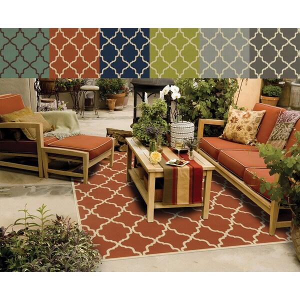 Indoor Outdoor Lattice Rug 6 7 x 9 6 Free Shipping