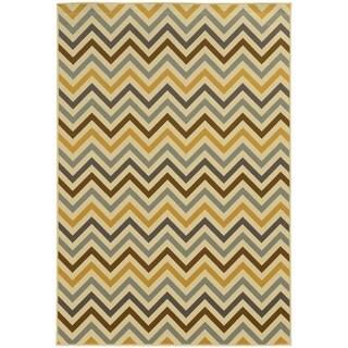 StyleHaven Indoor/ Outdoor Chevron Rug (7'10 x 10'10)