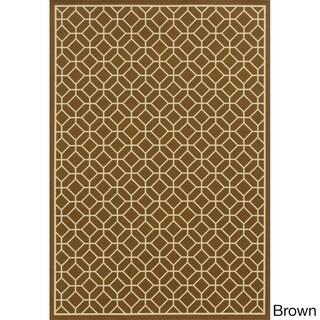 Indoor/ Outdoor Geometric Tile Rug (7'10 x 10'10)