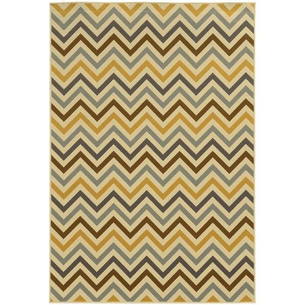 StyleHaven Indoor/ Outdoor Chevron Rug - 8'6 x 13'