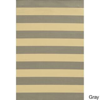 Indoor/ Outdoor Stripe Rug (8'6 x 13')