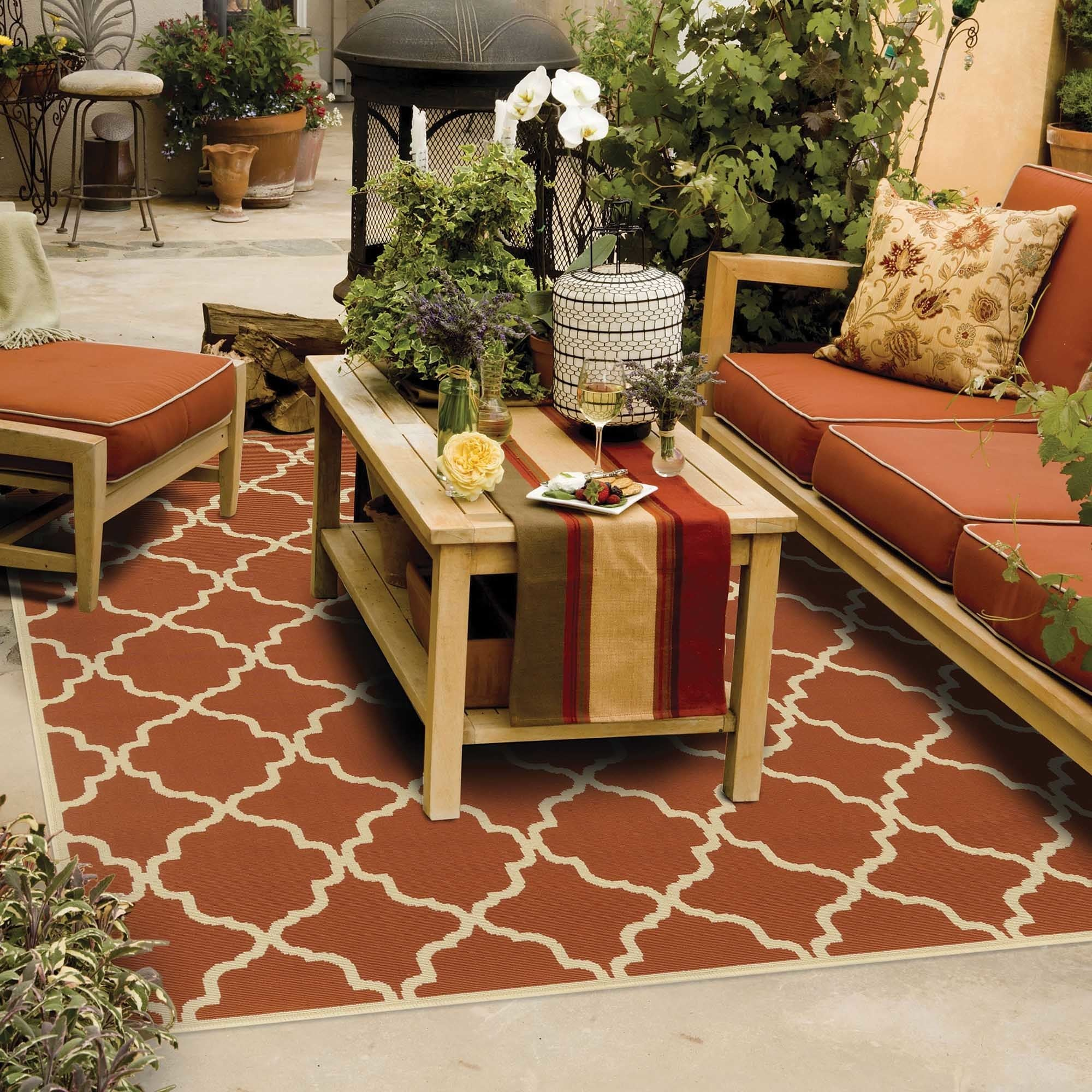 StyleHaven Indoor/ Outdoor Lattice Rug (8'6 x 13')