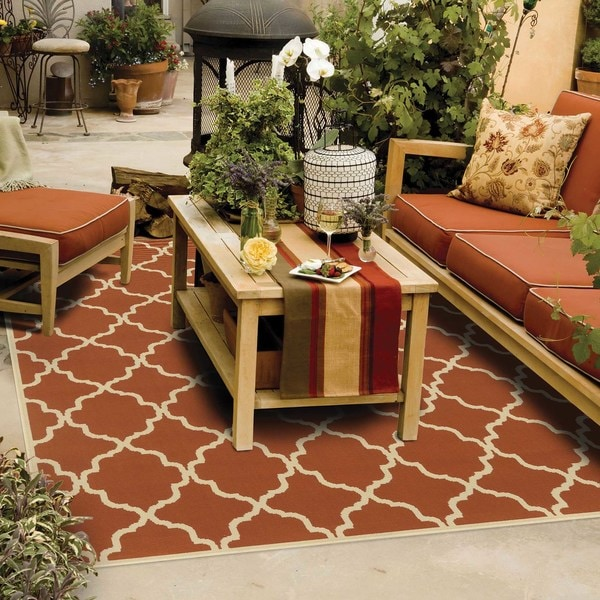 Carson Carrington Landskrona Indoor/ Outdoor Lattice Rug - 8'6 x 13'