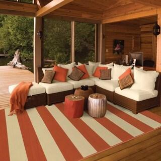 StyleHaven Indoor/ Outdoor Stripe Rug (2'5 x 4'5)