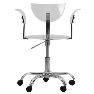 LeisureMod Transparent Acrylic Adjustable Swivel Office Chair