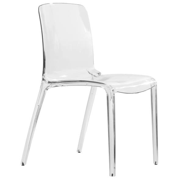 Shop LeisureMod Laos Modern Clear Dining Chair - Free ...