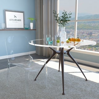 LeisureMod Laos Modern Clear Dining Chair