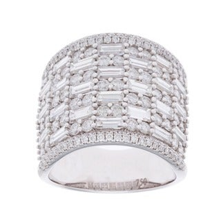 Azaro 18k White Gold 4ct TDW Pave Multi-stone Diamond Ring (G-H, SI2-I1)