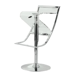 LeisureMod Clifton Transparent Adjustable Bar/ Counter Stool