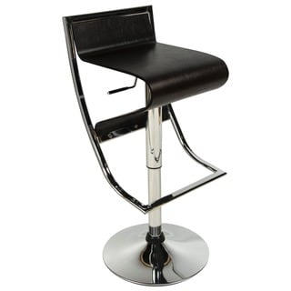 LeisureMod Clifton Adjustable Wood Modern Bar Stool