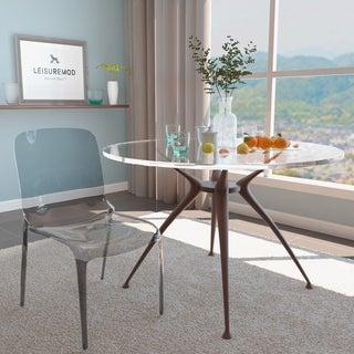 LeisureMod Laos Transparent Black Dining Chair