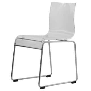 LeisureMod Moreno Transparent Clear Acrylic Modern Chair