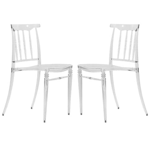 LeisureMod Norco Modern Lucite Transparent Dining Side Chair Set of 2