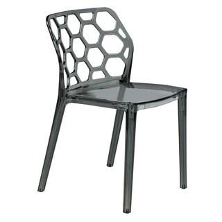 LeisureMod Cove Transparent Black Acrylic Modern Dining Chair