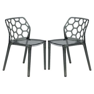 Link to LeisureMod Cove Black Honeycomb Lucite Dining Side Chair Set of 2 Similar Items in Dining Room & Bar Furniture