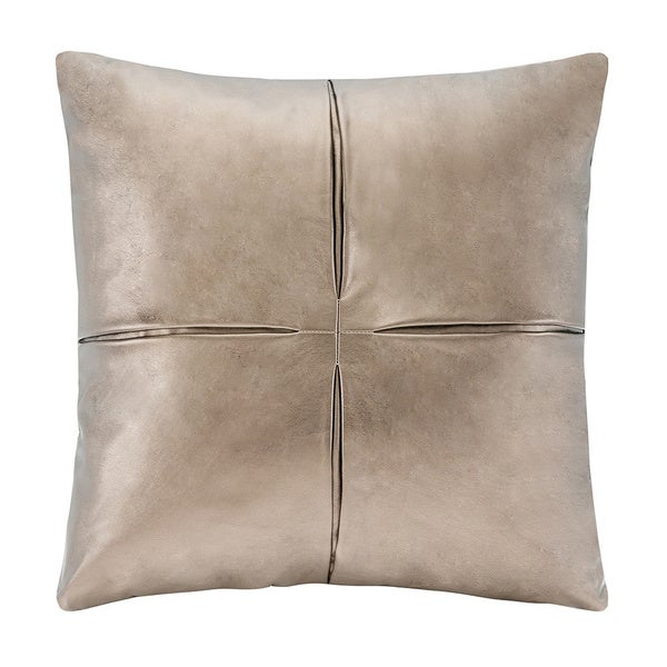 Madison Park Metallic Faux Leather Decorative Accent Pillow - Multiple Options