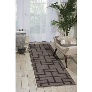 Barclay Butera Maze Slate Area Rug by Nourison (2'3 x 8')