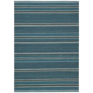 kathy ireland Griot Turquoise Area Rug by Nourison (5'3 x 7'5)