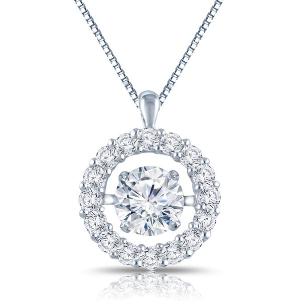 cubic gizvyl cut necklace girls for zirconia pendant diamond solitaire dp round