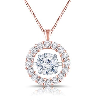 Auriya 'Dancing Stone' 14k Gold 1ct TDW Diamond Pendant Necklace (G-H, I1-I2)