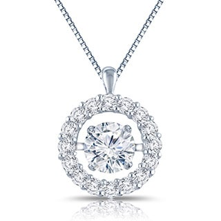 Auriya 'Dancing Stone' 14k Gold 1ct TDW Diamond Pendant Necklace (G-H, I1-I2)