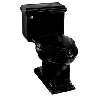 Kohler Memoirs Comfort Height 1-piece Black Toilet