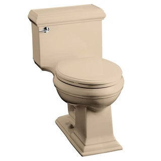 Kohler Memoirs Comfort Height 1-piece 1.28 GPF Mexican Sand Elongated Toilet